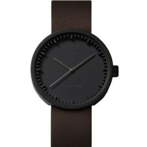 Tube watch D42 black/brown leather strap