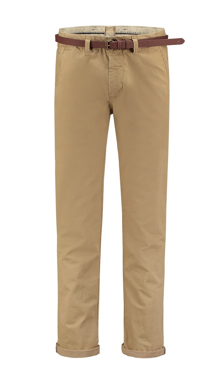 Chino Pants Belt Stretch Will Khaki