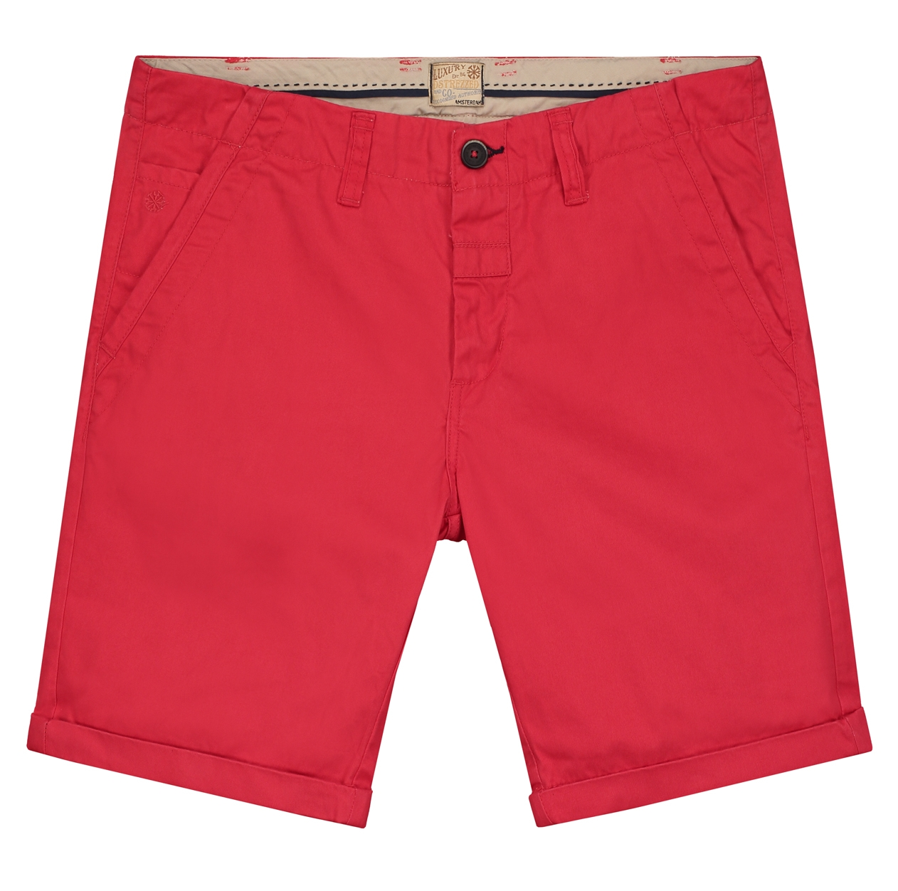 Chino Shorts Dense Twill red