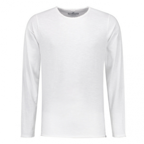 Basic Round Neck l/s Slub Jersey white