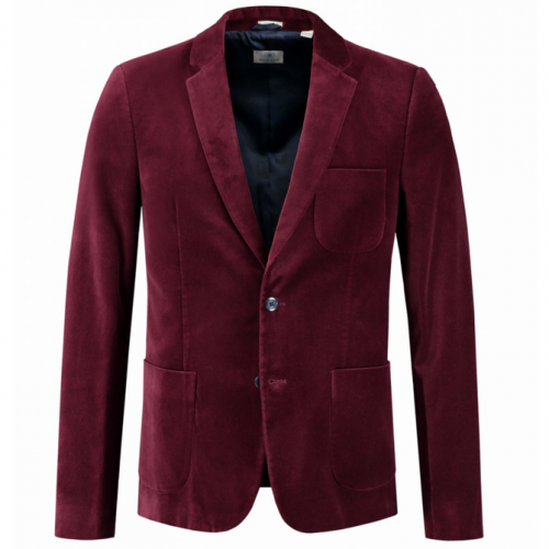 Blazer Washed Velour bordeauxrot