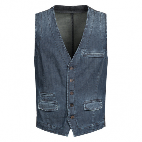 Gilet Light Denim / Midnight Blue