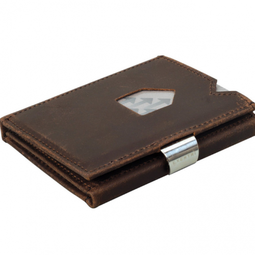 Nubuck Brown Leather Wallet
