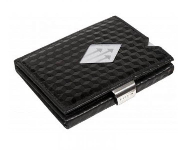 Cube Black Leather Wallet