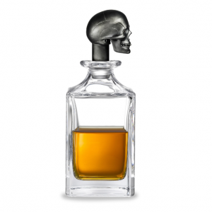 Decanter black Skull