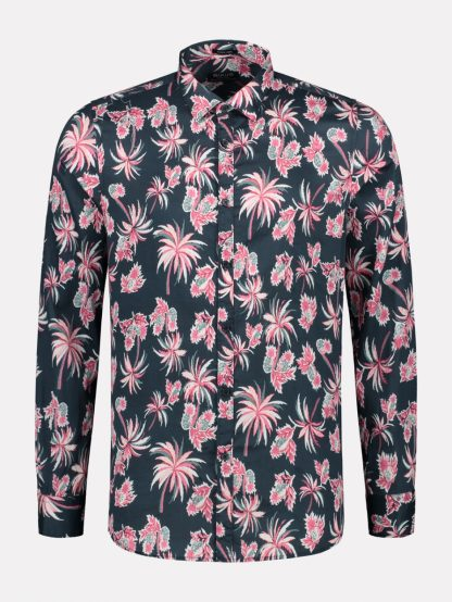 Shirt Light Satin Pineapple