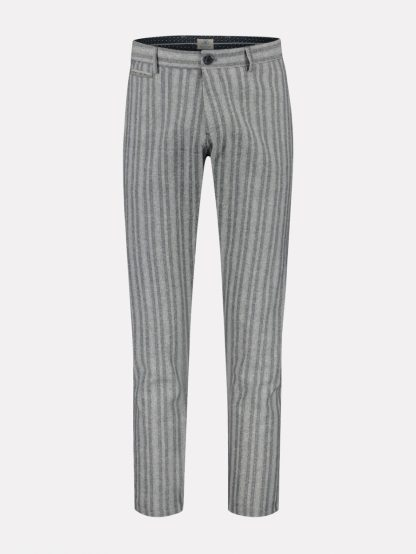 Loose chino cropped Linen stripe