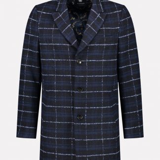 Coat Wool Boucle Check