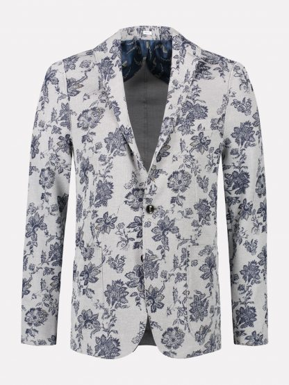 Blazer Heavy Stretch Pique Flower