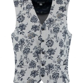 Gilet Heavy Stretch Pique Flower