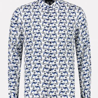 Resort Shirt Birds Satin