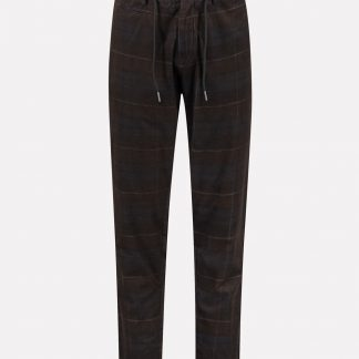 Quinn Tailored Jogger Pants Ribcord Check