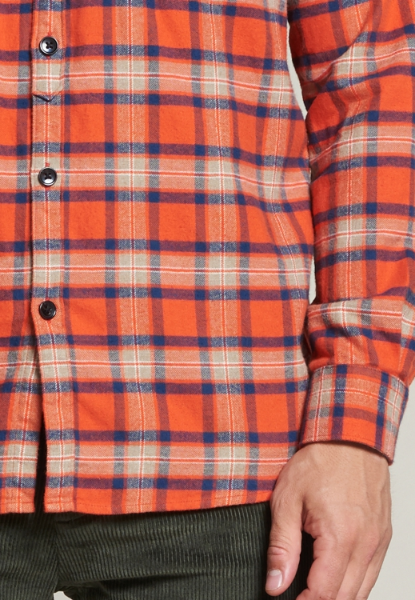 Shirt with pockets Washed Check Flannel