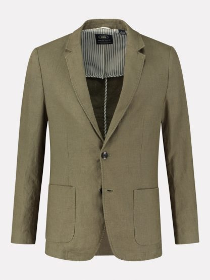 Blazer patched pockets Heavy Linen
