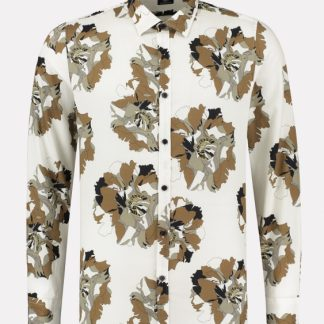 Shirt regular collar Camo Flower Satin